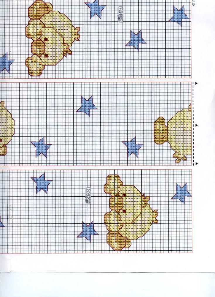 Schema punto croce pulcino stelle 1 punto croce bimbi for Punto croce immagini