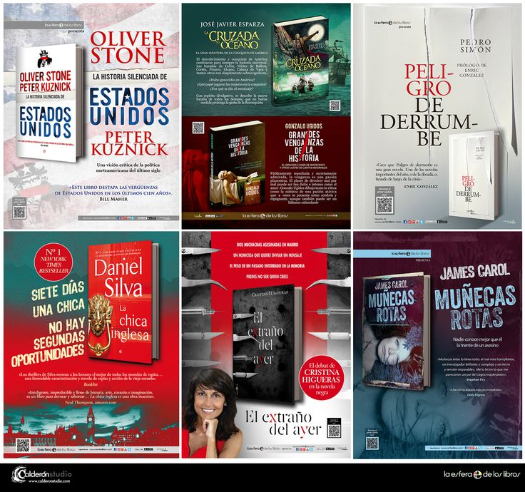 Algunas piezas de publicidad para prensa que he realizado recientemente para La Esfera de los Libros