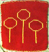 Ravelry: Quidditch Rings Square pattern by Courtney Clark