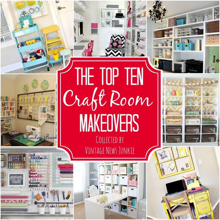 Awesome Inspiration & Organization Ideas for a Craft Room #organization #craftroom {Vintage News Junkie}