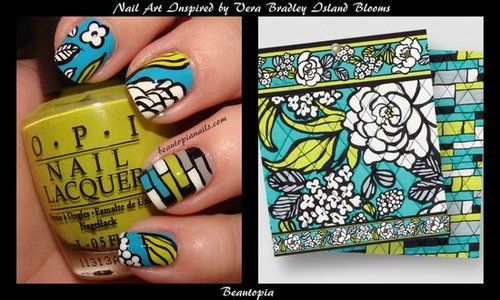 This is amazing! Taking Vera to the next level!: Blooms Nail, Bradley Island, Verabradley, Island Blooms, Nailart, Bradley Nails, Vera Bradley, Nail Art