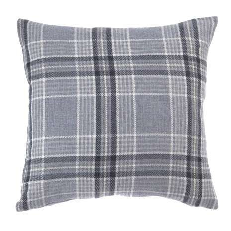 Blakeney Grey Check Cushion
