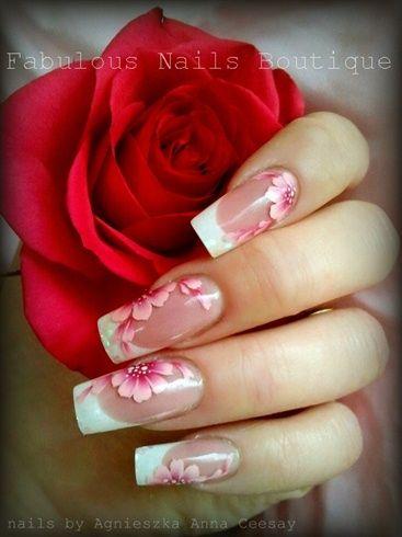 PINK FLOWERS by Agusia - Nail Art Gallery nailartgallery.nailsmag.com by Nails Magazine www.nailsmag.com #nailart