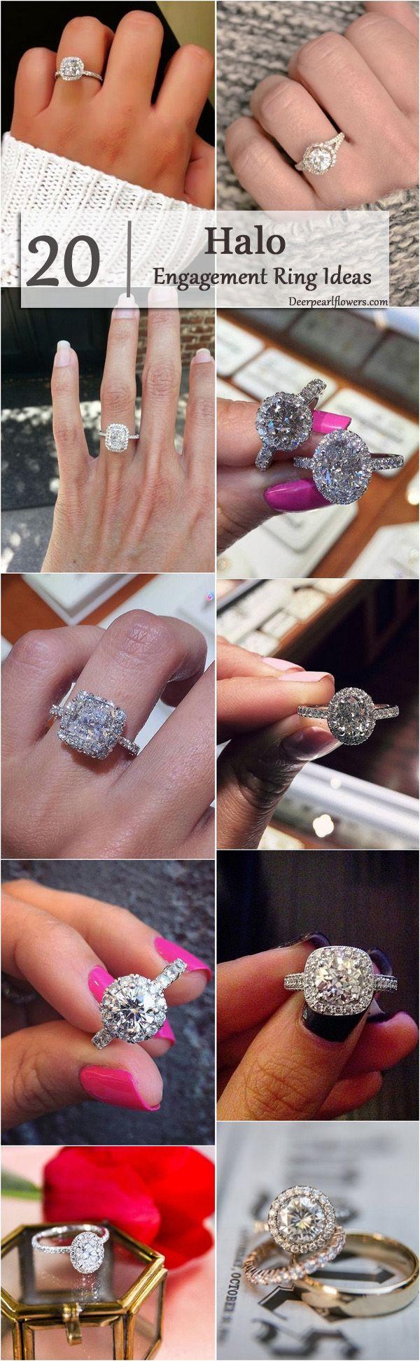 20 Halo Engagement Rings & Wedding Rings