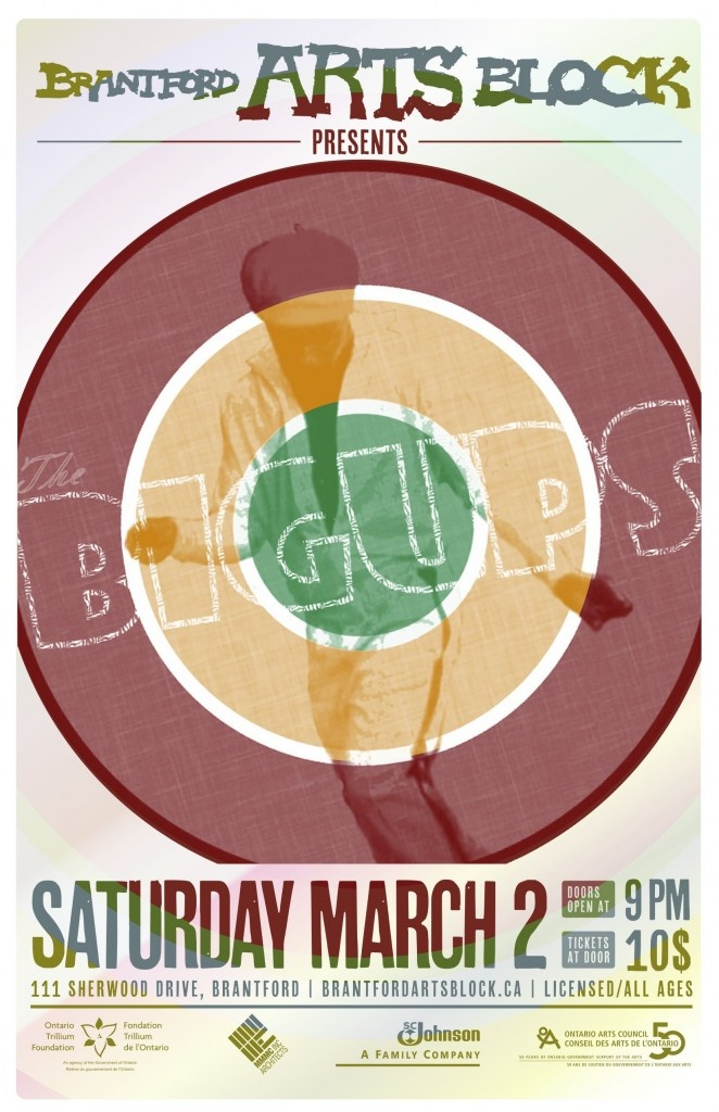 Brantford Arts Block presents reggae, funk, ska band The BigUps. Performing Saturday, March 2nd, 2013. Tickets $10 in advance.