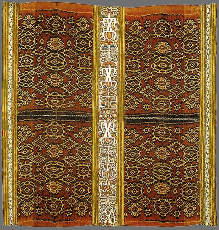 Paminggir people Woman's ceremonial skirt [tapis inu] 19th century Lampung south Sumatra Indonesia