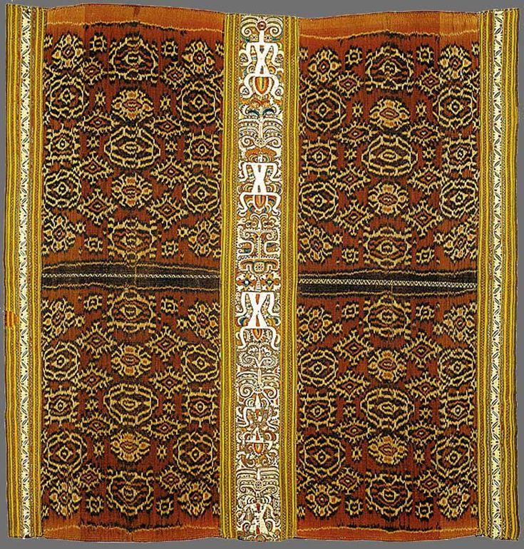 Paminggir people Woman's ceremonial skirt [tapis inu] 19th century Lampung south Sumatra Indonesia