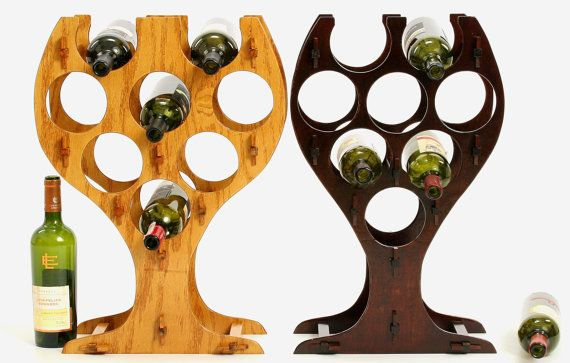 1000 ideas about oak table top on pinterest oak table tables and wood tables - Wine rack shaped like wine bottle ...