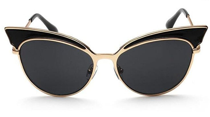 GAMT Trend Retro Sexy Cat Eye Sunglasses Yurt Chic Cateye Sun Glasses Super Popular Gold Frame Black *** Trust me, this is great! Click the image. : Best Travel accessories for women
