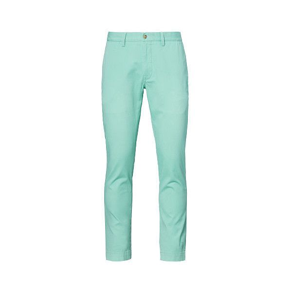 Polo Ralph Lauren Slim-Fit Cotton Chino ($85) ❤ liked on Polyvore featuring men's fashion, men's clothing, men's pants, men's casual pants, mens chinos pants, mens slim fit pants, mens 5 pocket pants, mens slim pants and mens slim fit chino pants