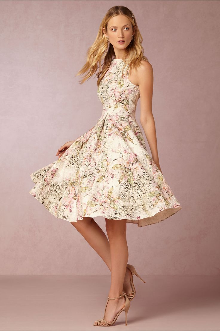 Floral Patterned Fit And Flare Dress Gardenia Dress From