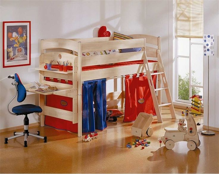 bedroom wonderful wood kids bed level with modern blue study chair also chic boy toys