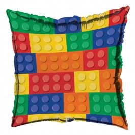 Lego Party Supplies, Block Party Foil Balloons, Decorations