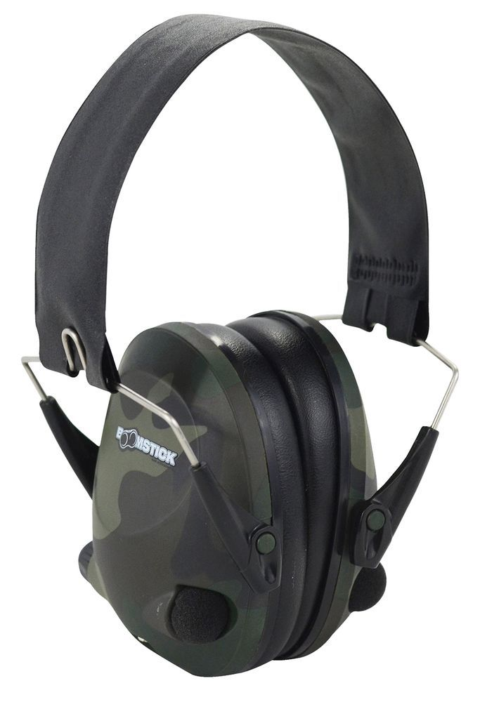 Electronic Folding Earmuff Noise Safety Hearing Protection, Camouflage 22 dB #BoomstickGunAccessories