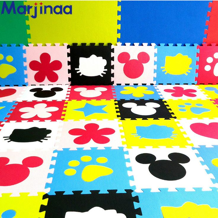 DIY Children's soft developing crawling rug,baby play puzzle number cartoon  DIY eva foam mat,pad floor for baby games 30*30*1cm