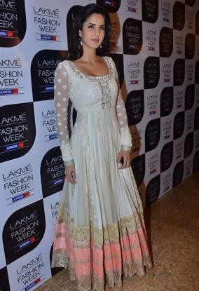 Katrina Kaif in white Manish Malhotra Creation