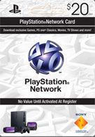 Online Purchase Play Station Network Card only $20  in CANADA - The PlayStation Network card (available in $20 and $50 denominations) is an easy and convenient way to make your PlayStation Store purchase without using a credit card.  http://www.pcgamesupply.com/buy/PlayStation-Network-20-Card-CANADA/