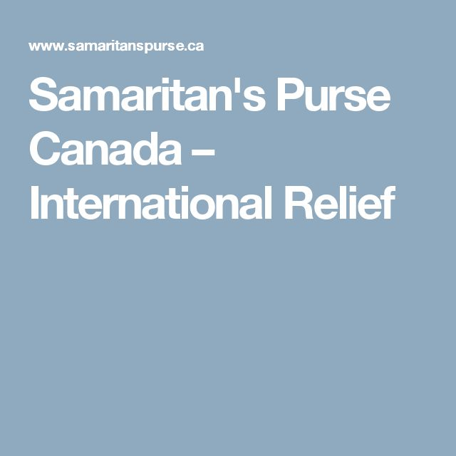 Samaritan's Purse Canada – International Relief