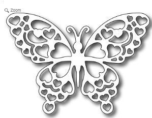 Frantic Stamper - Precision Dies - Romantic Butterfly FRA-Die-09154: