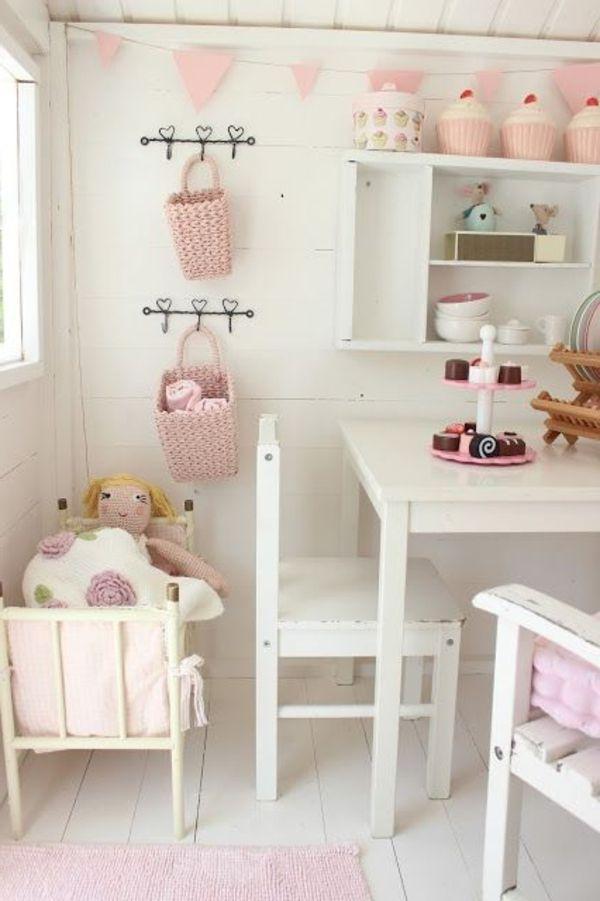 kinderspielhaus interieur rosa wei bohne pinterest. Black Bedroom Furniture Sets. Home Design Ideas