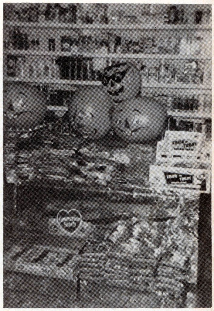 1969 Halloween Store Display. I want EVERYTHING in this display case!!