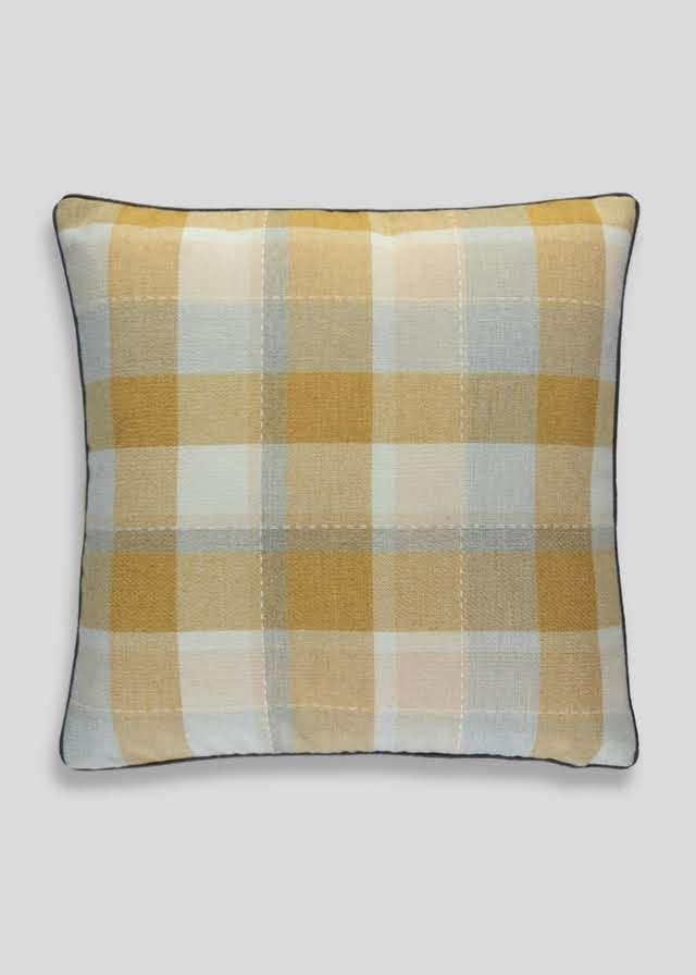 Large Check Cushion (58cm x 58cm) View 1