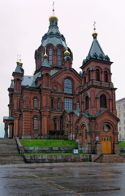 Uspenski Cathedral, Helsinki - designed by Aleksei M. Gornostajev, built 1862–1868
