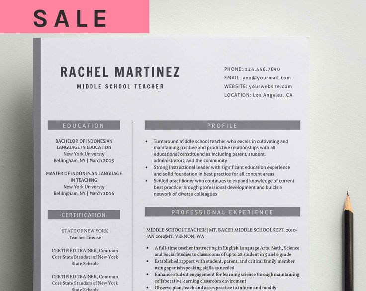 Profesional Creative Resume Template for Word (US Letter and A4) 1 & 2 Page CV Template, Icon Set, Cover Letter by Indograph on Etsy