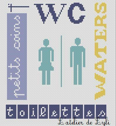 SAL plaque de porte WC