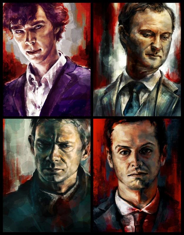 Sherlock4444 Sherlock, Games Bi Alice, Sherlock Portraits, Art Ll, Watches Bbc, Bbc Sherlock, Greatest Bbc, Sherlock Holmes, Oil Painting