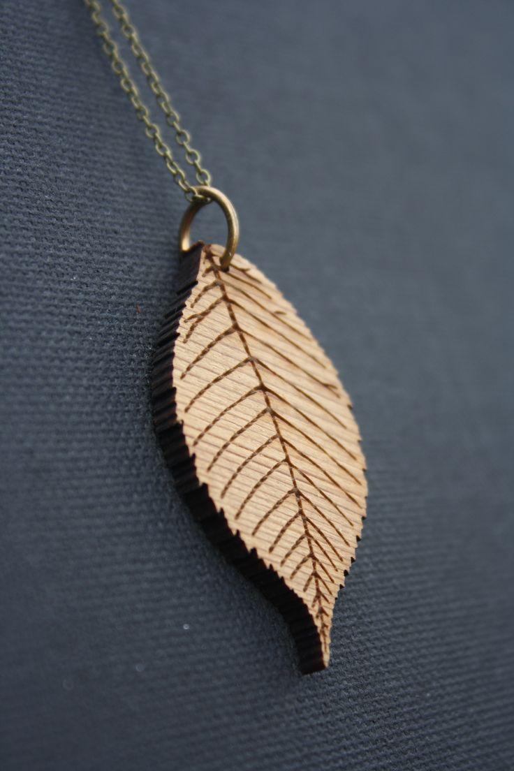 Cedar leaf necklace - $30
