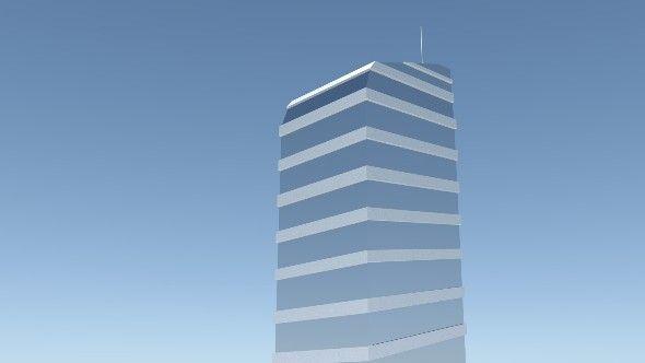 FutureBusinesTower  Fully customizable 3D model of a