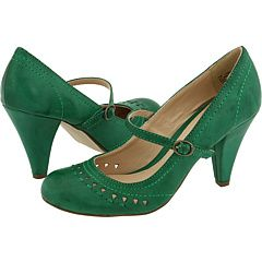 green Mia...very nice looking low heel! that can be hard to find! I'm so obsessed with the color green lately..