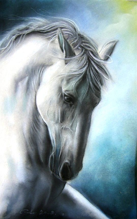 Elegance by Gile by Joseph Donaghy. Horse art piece...wonderful detail work in oil pastel.