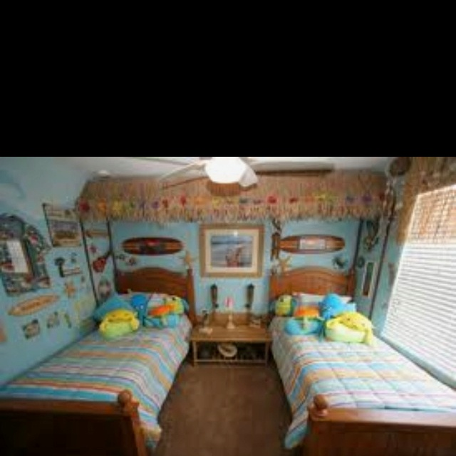 Teen Beach Bedroom Ideas Part - 37: Do It Yourself Kids Theme Bedrooms Beach Furniture Crafts And