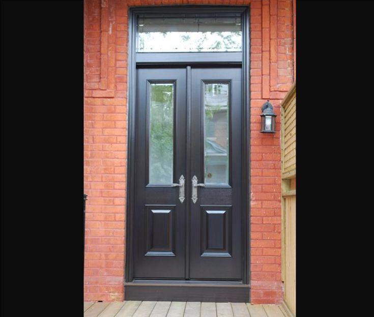 118 best doors images on pinterest for Black french doors exterior