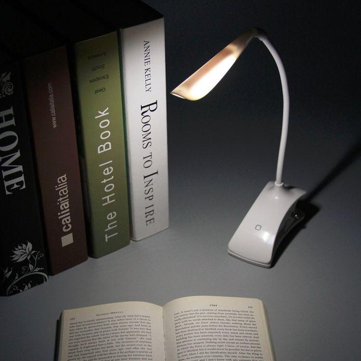 Fashion USB / Battery Power Clip on LED Table Desk Lamp Light 28 LED Bedside Book Reading Lamp for Bed