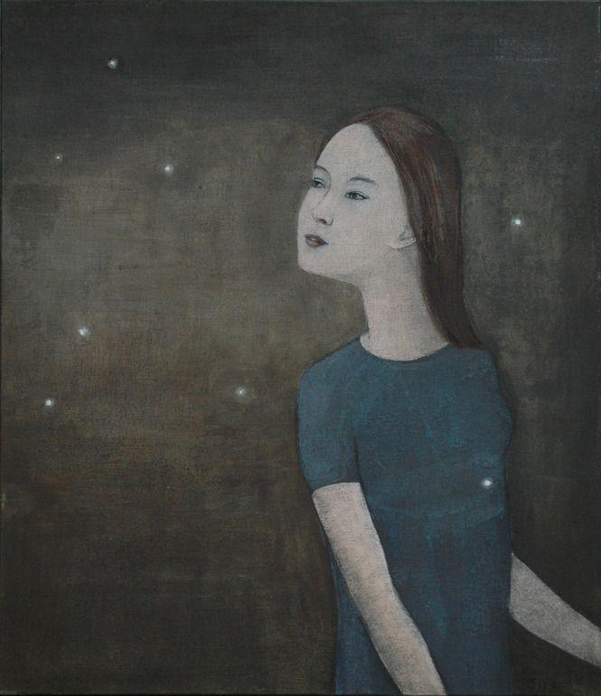"Saatchi Online Artist: June Sira; Tempera, 2012, Painting ""Fireflies 2"""