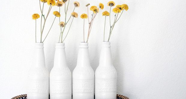 Painted Bottle - Love DIY