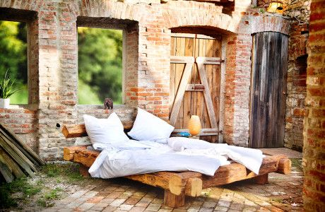 18 besten schlafzimmer bilder auf pinterest bett bauen rustikales bett und holzarbeiten. Black Bedroom Furniture Sets. Home Design Ideas