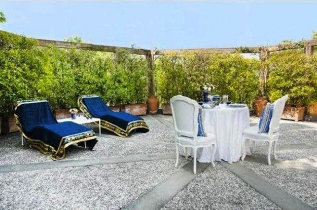 Il terrazzo della villa di Santo Versace - Nel cuore di Milano una casa da vip per Santo Versace