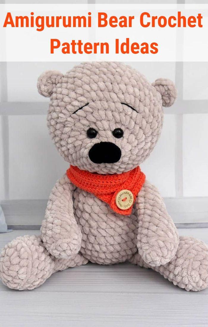 Lovely Teddy Bear Amigurumi - Tutorial | 1100x700