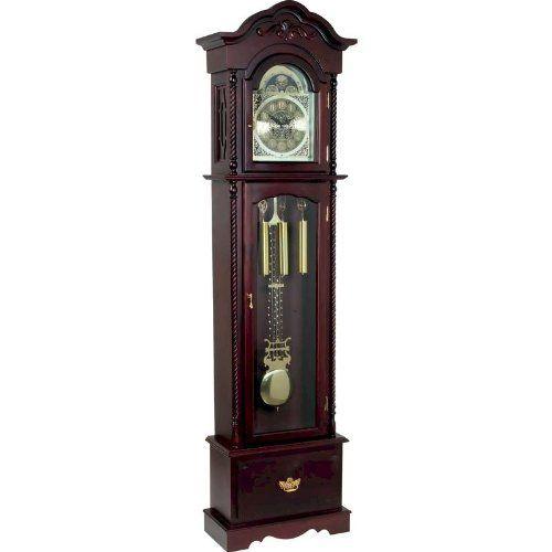 62B Edward Meyer Grandfather Clock with Beveled Glass