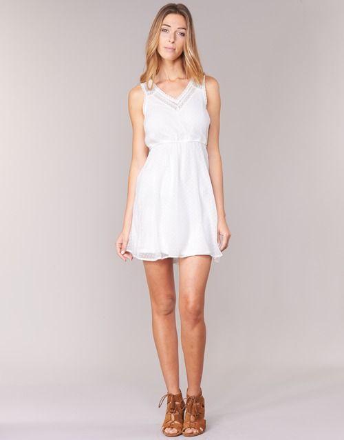 Vero Moda BIANCA Blanc - Livraison Gratuite avec Spartoo.com ! - Vêtements Robes courtes Femme 34,99 €
