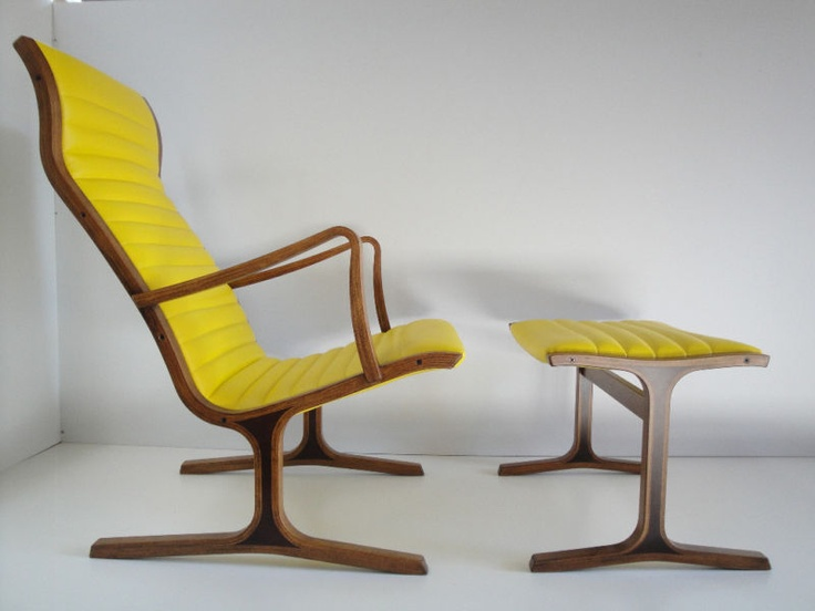 Danish modern lounge chair footstool eames era25 best upcycled furniture images on Pinterest   Upcycled  . Modern Yellow Lounge Chair. Home Design Ideas