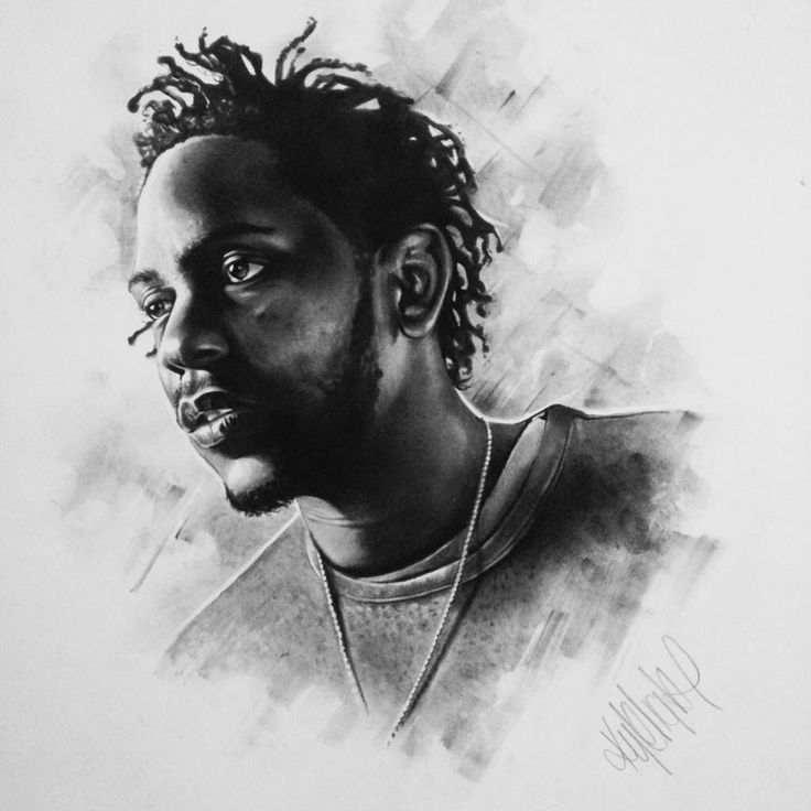 Kendrick Charcoal Original - size A2 portrait. R2,500.00 (incl. VAT). Framed (white wood)