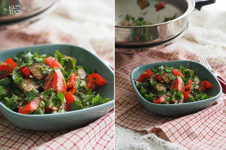 Теплый салат с баклажанами, чили и томатами (Готовлю с помощью посуды iCookTM) - HAPPYFOOD