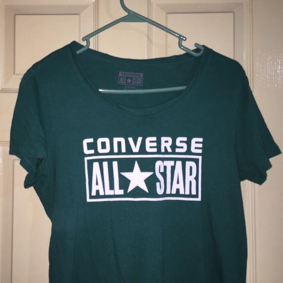 Converse T-shirt Dark Aqua Converse t shirt Converse Tops Tees - Short Sleeve