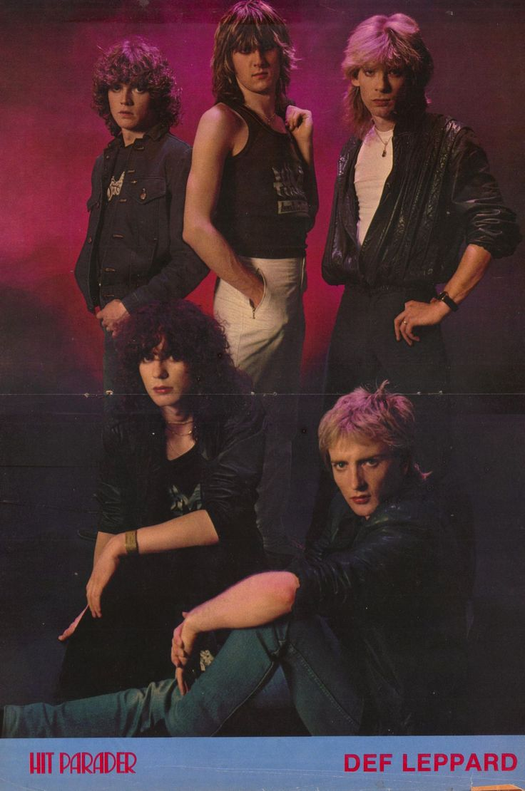 Def Leppard 1983 Poster Hit Parader Magazine with Phil Collen, Joe Elliott, Rick Savage, Steve Clark and Rick Allan I think that was Def Leppard's first poster with PhilCollen