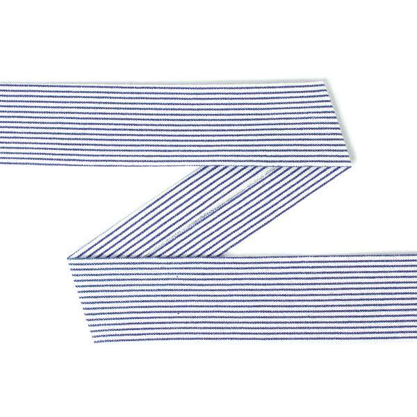 Snedslå Ränder 4 (20) - Bomull - marinblått - vit